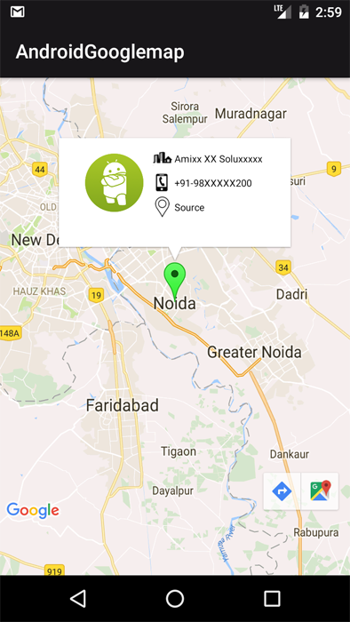 Android Google Maps V2 With Custom Infowindow On Marker Android